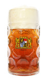 Bayern Crest Dimpled Oktoberfest Glass Beer Mug 1 Liter