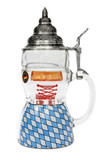 Dirndl 0.5 Liter Beer Stein with Lid