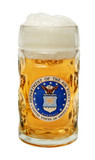 US Air Force Dimpled Oktoberfest Glass Beer Mug 0.5 Liter