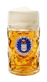 US Air Force Dimpled Oktoberfest Glass Beer Mug 1 Liter