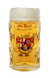 Rheinland Pfalz Dimpled Oktoberfest Glass Beer Mug 0.5 Liter