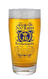 Hofbrauhaus German Purity Law 500 Year Anniversary Beer Glass 0.5 Liter