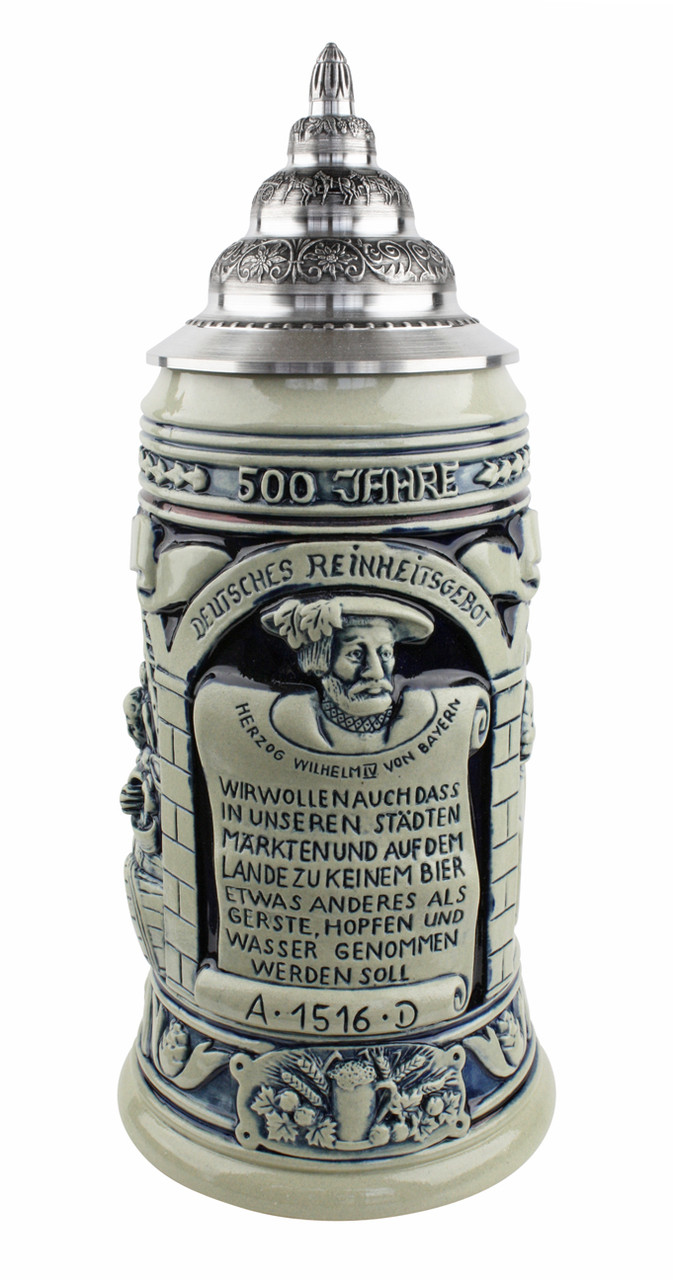 Reinheitsgebot 500 Year Anniversary Beer Stein Authentic