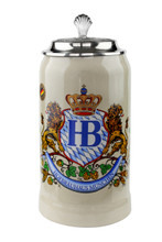 Hofbrauhaus Beer Stein with Pewter Lid