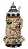Classic Lovers Wedding Beer Stein Antique Style