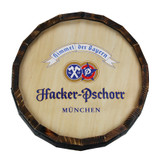 Hacker Pschorr Wooden Barrel Head Sign