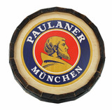 Paulaner Wooden Barrel Head Sign