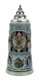 German Heritage National Anthem Beer Stein Cobalt