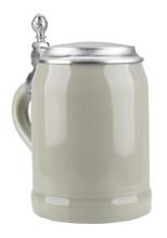 Half Liter Ceramic Beer Stein with Lid