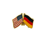 USA and German Crossed Flags Hat Pin
