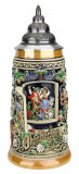 Window to Oktoberfest Dancing Couple Munich Beer Stein