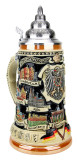 German Traveler Beer Stein