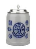 Munich Purity Law 1487 0.5 Liter Salt Glaze Stoneware Beer Stein