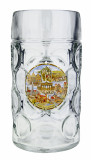 German Landmarks Dimpled Oktoberfest Glass Beer Mug 1 Liter