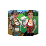 Oktoberfest Couple Single Sided Photo Prop