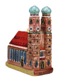Munich Frauenkirche Cathedral Christmas Ornament
