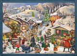 Victorian Winter Mountain Village German Advent Calendar