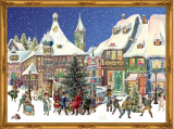Victorian Romantic Town German Advent Calendar