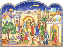 Traditional German Advent Calendar Bethlehem Stable