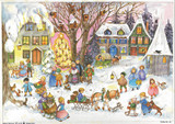 Country Winter Village German Christmas Advent Calendar