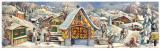German Christmas Countdown Advent Calendar 1952 Alpine Chapel