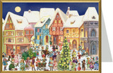 Victorian Village German Christmas Card