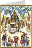 Nostalgic Village at Christmas German Christmas Card