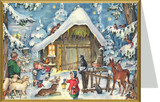 Journey to the Stable German Christmas Card