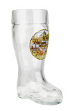 German Landmarks Glass Beer Boot 0.5 Liter