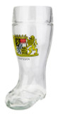 Bavaria Crest Glass Beer Boot 1 Liter