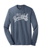 Hofbrauhaus HB Life is Brewtiful Navy Frost Long Sleeve T Shirt