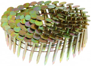 Grip-Rite GRCR3DGAL 1-1/4 Inch Coil Roofing Nails 7200 Per Box