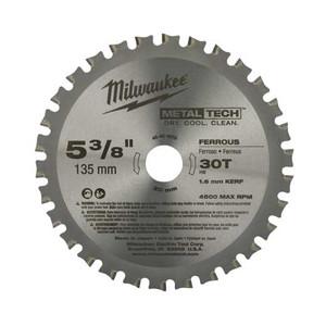 Milwaukee 48-40-4070 5-3/8 Inch 30T Ferrous Metal Circular Saw Blade