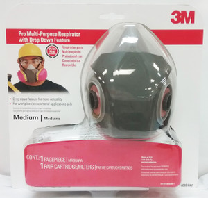 3M 62023DHA1-C Professional Multi-Purpose Drop Down Respirator With filters