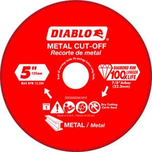 Diablo DDD045DIA191F 4.5 In Diamond Cut-off Wheel For Metal