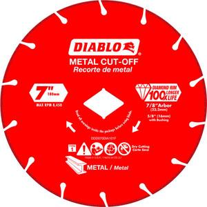 Diablo DDD070DIA101F 7 In Diamond Cut-off Wheel For Metal