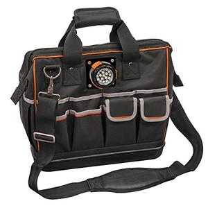 Klein 55431 Tradesman Pro Organizer Lighted Tool Bag