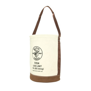 Klein 5104 Leather-Bottom Bucket / Bolt Bag