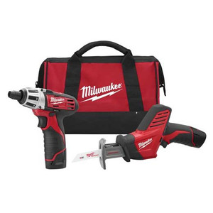 Milwaukee 2490-22 Hackzall And Screwdiver Kit 2 Tool 12 Volt Combo