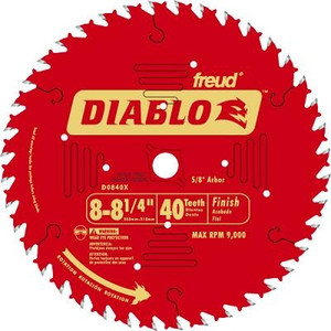 Diablo D0840X 8 to 8-1/4 Inch Finishing 40 Tooth Circular Saw Blade