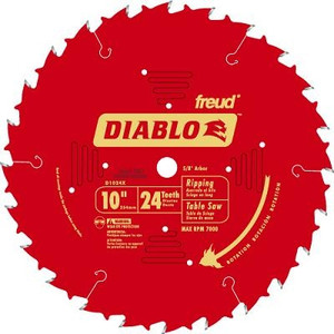 Diablo D1024X 10 Inch Ripping 24 Tooth Circular Saw Blade