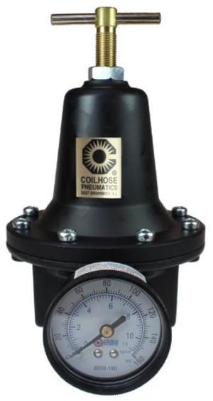 Coilhose Pneumatics 8802G-CS 1/4 Inch Heavy Duty Gauge Regulator