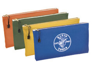 Klein 5140 7 Inch Canvas Zipper Bags 4 Pack Assorted Colors