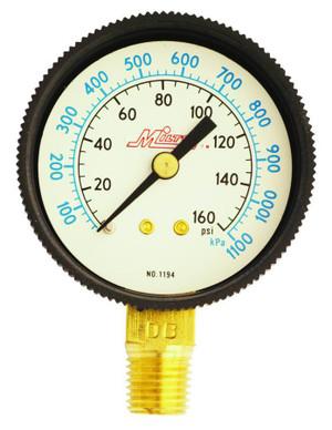 Milton 1190 Center Back Mount Pressure Gage 1/4 Inch NPT 0-60 PSI