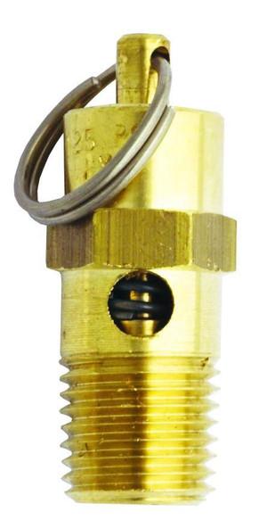 Milton 1095-125 Safety Valve 1/4 Inch MNPT 125 PSI