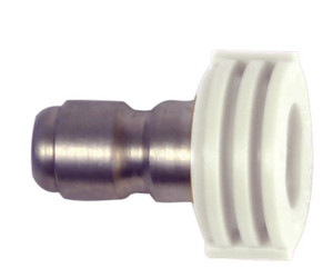 Forney 75156 Quick Connect Washing Spray Nozzle White 40° x 4.5 1/4 In