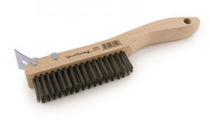 Forney 70512 Shoe Handle Carbon Steel Wire Scratch Brush Metal Scraper