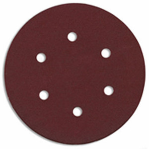 Bosch SR6R060 5 Pack 6 Inch 60 Grit 6 Hole Hook And Loop Sanding Discs
