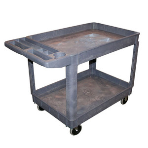 AFF 962 2-Shelf Polypropylene Shop Cart