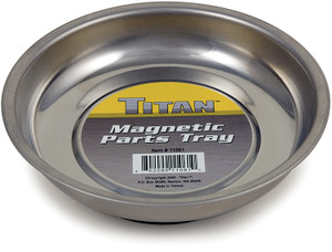 Titan 11061 4-1/4 Inch Stainless Steel Mini Magnetic Parts Tray